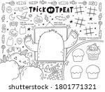 trick or treat worksheets... | Shutterstock .eps vector #1801771321