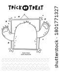 trick or treat worksheets... | Shutterstock .eps vector #1801771327