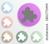 puzzle badge color set. simple...