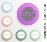 stop badge color set. simple...