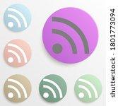 wifi flat badge color set....