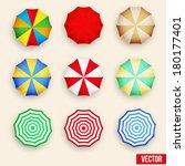 beach set symbols of sun... | Shutterstock .eps vector #180177401
