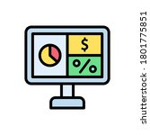 desktop  chart  dollar icon....