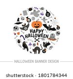 vector round frame with... | Shutterstock .eps vector #1801784344