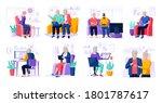 set of modern senior people... | Shutterstock .eps vector #1801787617