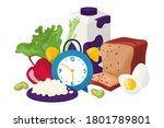 healthy breakfast for gourmet... | Shutterstock .eps vector #1801789801