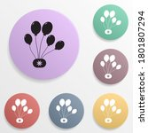 party balloons badge color set...
