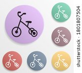 tricycle badge color set icon....