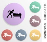 billiard player badge color set ...