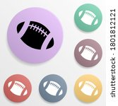 american football ball badge...