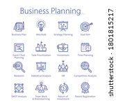 business planning work  time... | Shutterstock .eps vector #1801815217