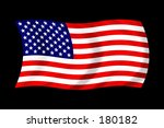 american flag on black... | Shutterstock . vector #180182