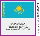 kazakhstan national flag in...   Shutterstock .eps vector #1801820524