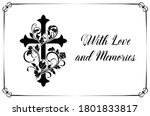 funeral card vector template... | Shutterstock .eps vector #1801833817