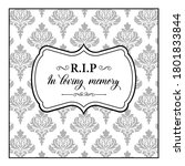 Funeral Vector Card  Obituary...