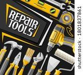 vector poster for repair tools  ...   Shutterstock .eps vector #1801837861