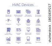 hvac devices concept. air... | Shutterstock .eps vector #1801839217