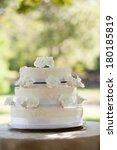 view of a wedding cake on table ... | Shutterstock . vector #180185819