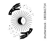 alchemy esoteric mystical magic ...   Shutterstock .eps vector #1801861714