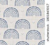 seamless french farmhouse linen ... | Shutterstock . vector #1801865017