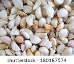 a lot of garlic | Shutterstock . vector #180187574