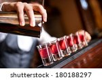 close up of barman hand pouring ... | Shutterstock . vector #180188297