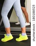 women and men feet on treadmill ... | Shutterstock . vector #180188525