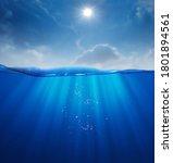 Summer Sea Deep Underwater...