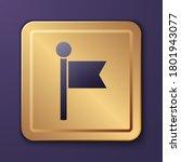 purple flag icon isolated on...
