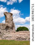 Small photo of The ruins of Hadleigh Castle in Essex, UK