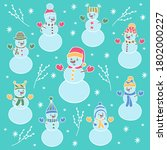 vector christmas winter set... | Shutterstock .eps vector #1802000227