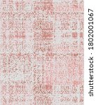 vector  distress effect floral... | Shutterstock .eps vector #1802001067