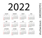 calendar 2022   illustration.... | Shutterstock .eps vector #1802002951