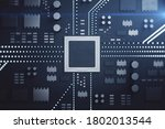cpu microchip on motherboard....