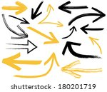 collection of different arrows | Shutterstock .eps vector #180201719
