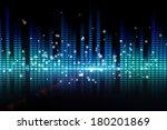 digital disco design in blue | Shutterstock . vector #180201869