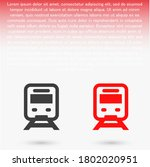 a train line vector. lorem...   Shutterstock .eps vector #1802020951