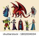 st of fictional and...   Shutterstock .eps vector #1802034034