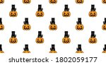 cat seamless pattern halloween... | Shutterstock .eps vector #1802059177