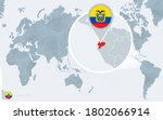 pacific centered world map with ...   Shutterstock .eps vector #1802066914