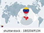 pacific centered world map with ... | Shutterstock .eps vector #1802069134