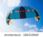 parachute in the clear sky | Shutterstock . vector #180210065