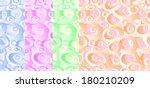 set of geometric seamless... | Shutterstock .eps vector #180210209