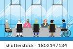 collaboration of diversity... | Shutterstock .eps vector #1802147134