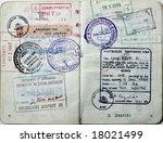 italian passport.australia... | Shutterstock . vector #18021499