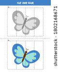 cut and paste game for kids.... | Shutterstock .eps vector #1802168671