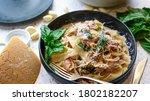 Tagliatelle Pasta With Mushroom ...