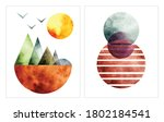 abstract water color... | Shutterstock .eps vector #1802184541