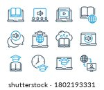 online education related vector ... | Shutterstock .eps vector #1802193331