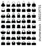 Big Set Of Black Silhouettes O...